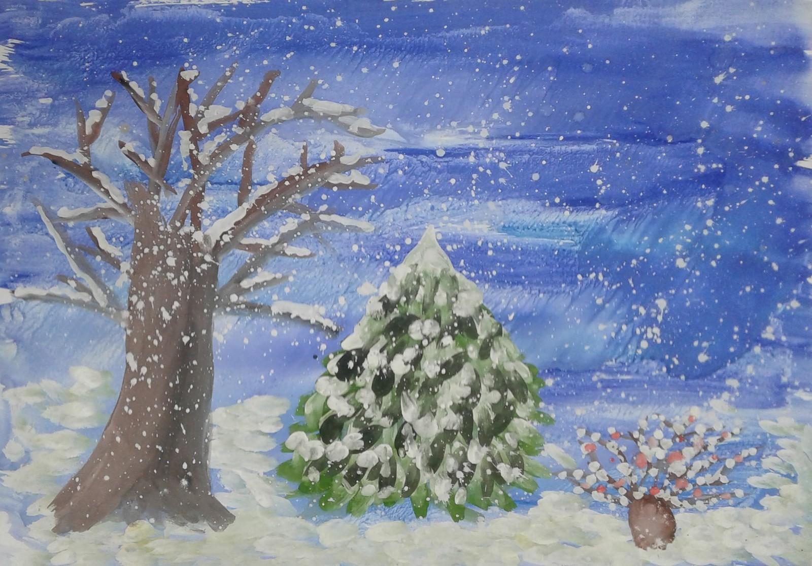 рисунок зимушка зима фото много веселья для